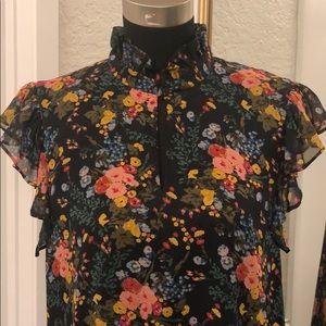 Madewell Silk Floral Shift Dress